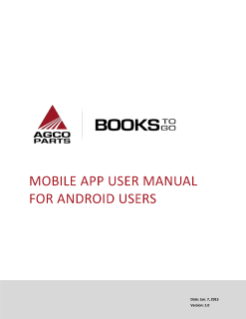 Agco parts Books to go Android User Manual