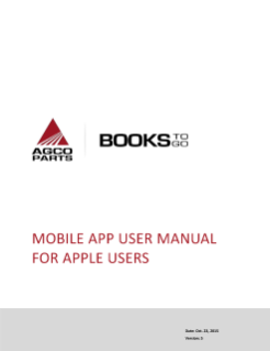 Agco parts books to go Apple User Guide