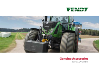 Fendt Genuine Accessories Range Overview