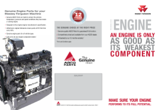 MF Genuine Engine Parts Leaflet