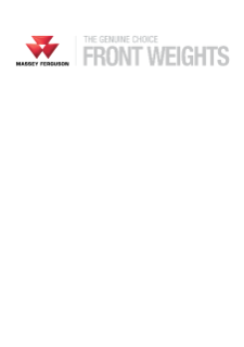 MF Front Weights Flyer
