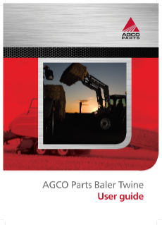 AGCO Parts Baler Twine User guide