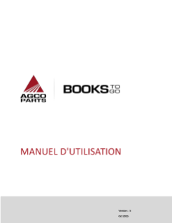 AGCO Parts Books to Go MANUEL D'UTILISATION - APPLE