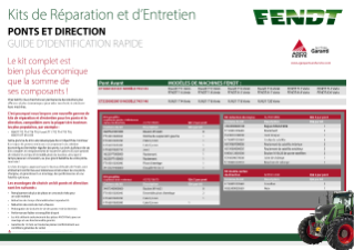 Fendt PONTS ET DIRECTION - GUIDE D'IDENTIFICATION RAPIDE