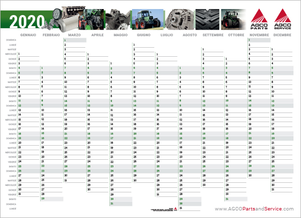Fendt Wallplanner 2020