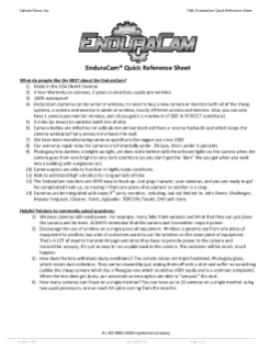 Microsoft Word - EnduraCam Dealer Quick Reference Guide 06_17_15.doc