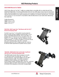 AGCO RAM Mount Tablet Bulletin