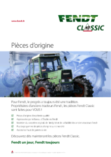 Fendt Classic Original Parts Poster FR