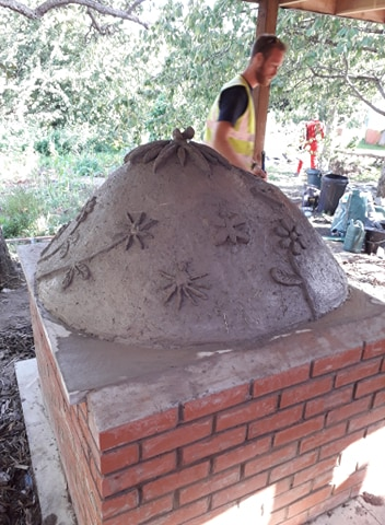 Finished earth oven
